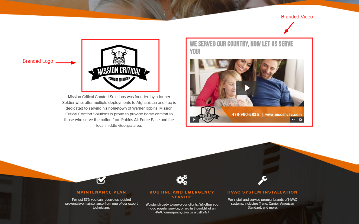 Branded Website Example