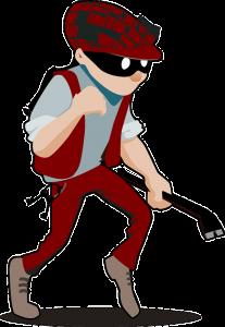 picture of a burglar