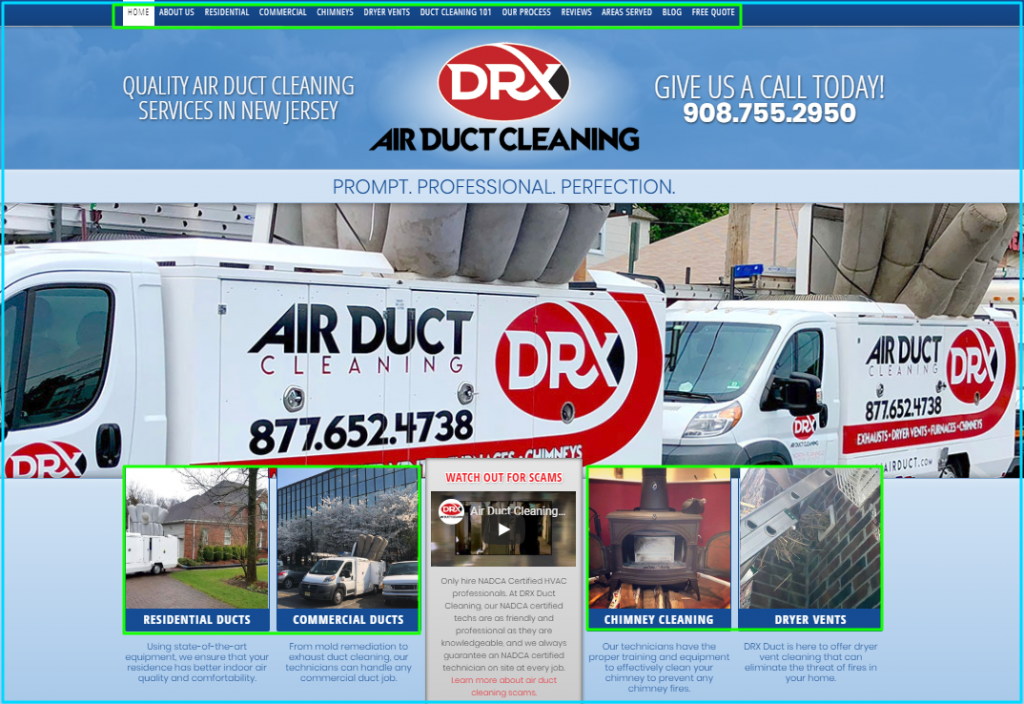 On-Oage SEO on DRX HVAC