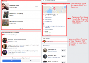 Screenshot of Facebook Information