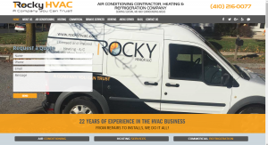 Desktop View of HVAC Webmasters