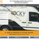 Responsive Design for HVAC Site, Desktop View