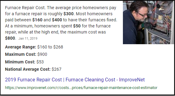 Furnace Repair Snippet