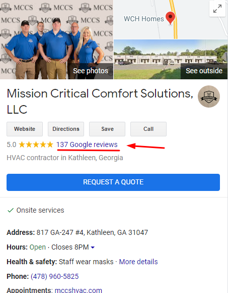 Google Reviews Count