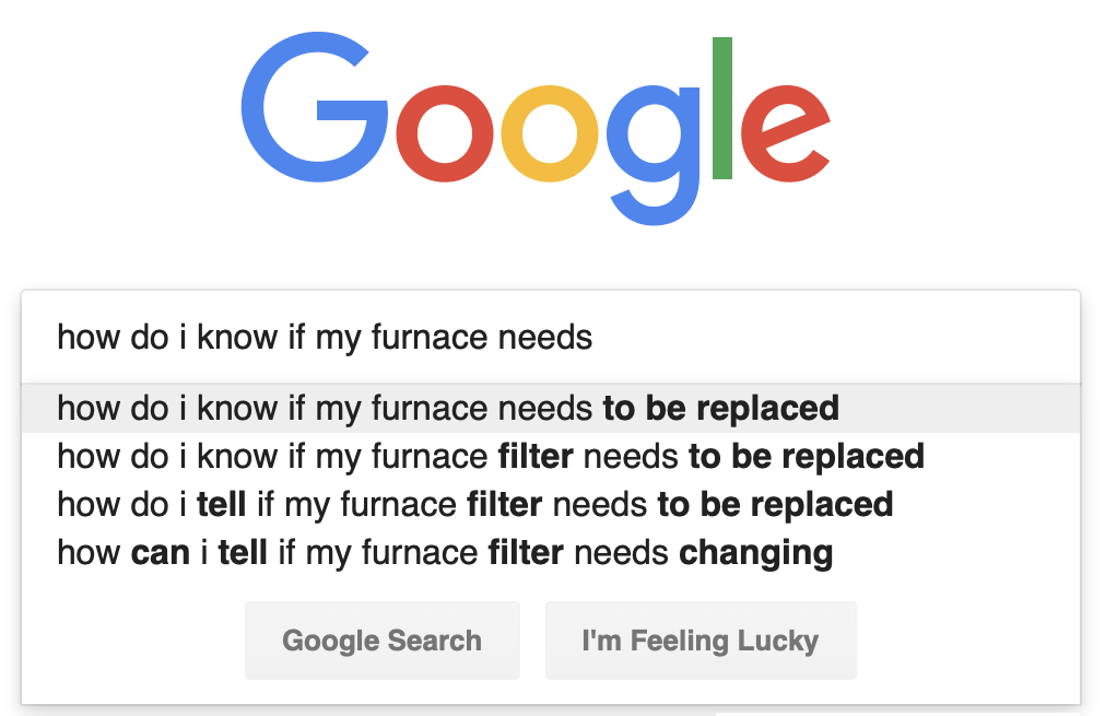 How Do I Know My Furnace Needs Google Search Screenshot