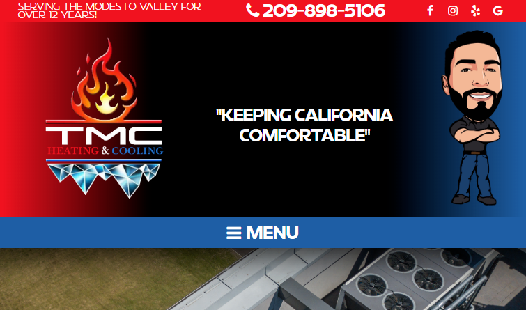 Nice Visuals for a HVAC Site's Website Design