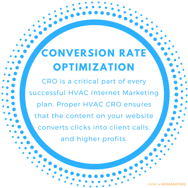 Conversion Rate Optimization is a critical part of every HVAC Internet Marketing Plan. Proper HVAC CRO ensures that the content on your website translates clicks into client calls and higher profits.