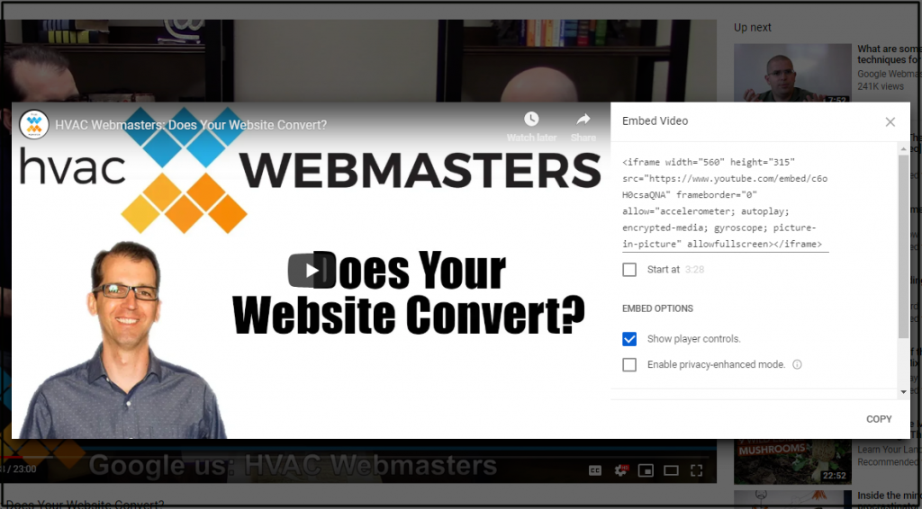 JavaScript Code for HVAC Webmasters Video