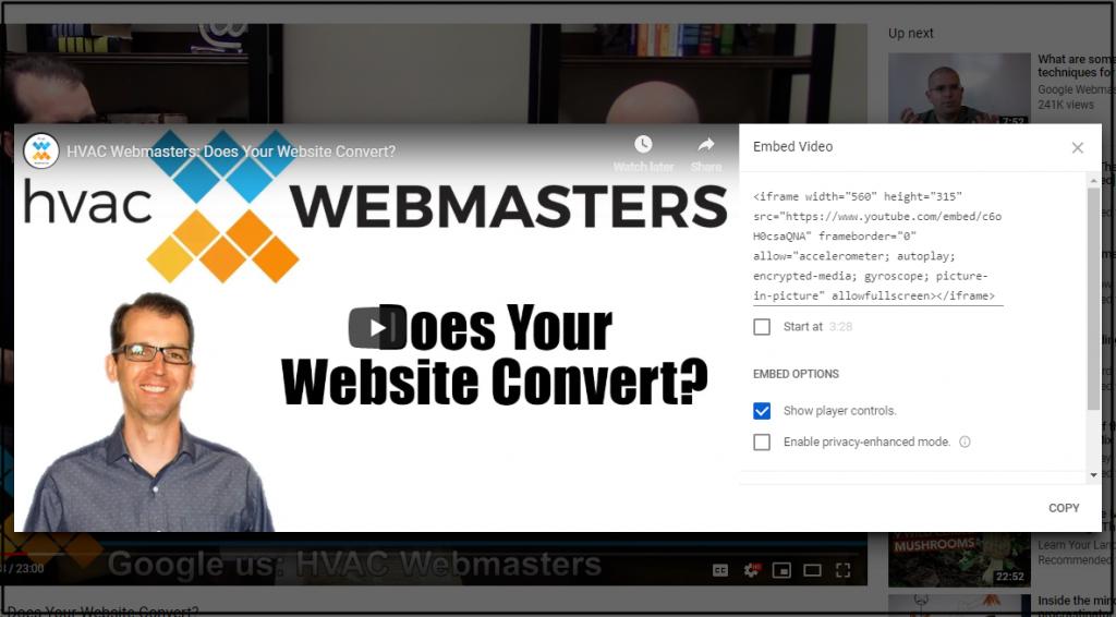 JavaScript Code for HVAC Webmasters Video