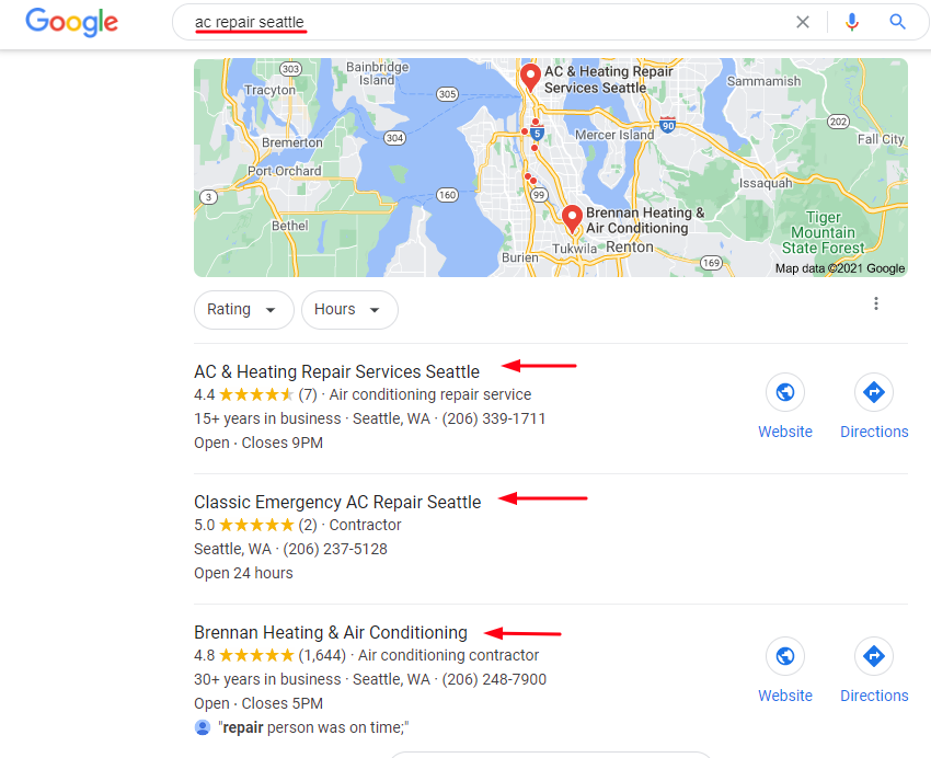 HVAC Local SEO Results