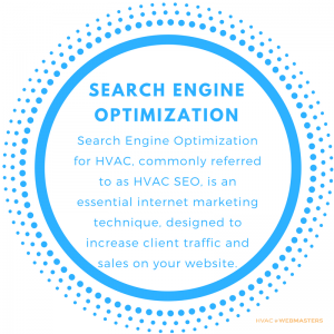 Search Engine Optimization for HVAC, commonly referred to as HVAC SEO, is an essential Internet Marketing Technique, designed to increase client traffic and sales on your HVAC Website.