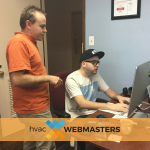 HVAC Webmasters logo design