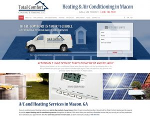 HVAC Website Design Example 1