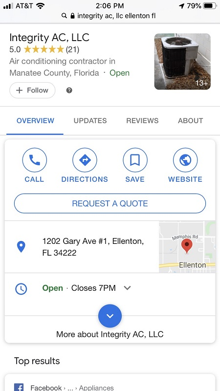 A Mobile Knowledge Graph for HVAC SEO