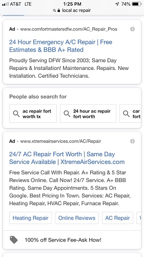 Examples of Paid Ads Made Through Adwords