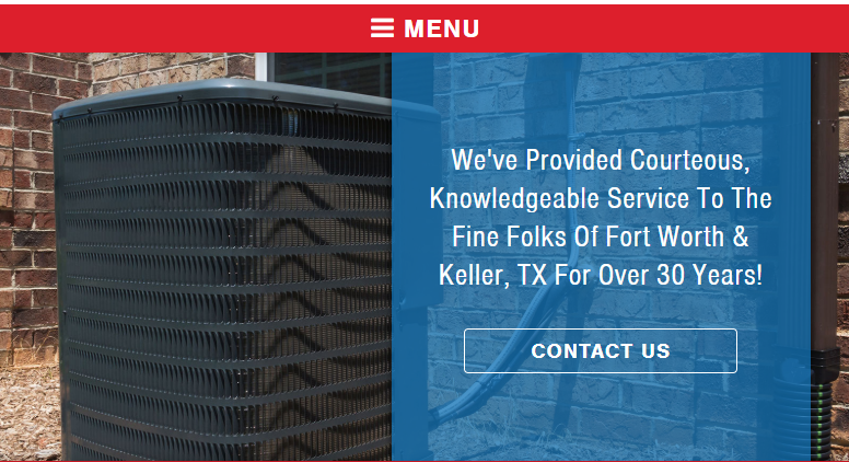 A Snapshot From an HVAC Website