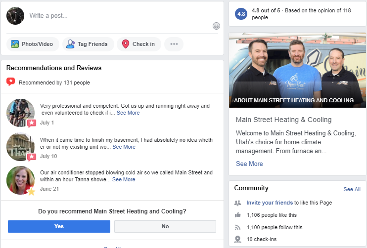 SEO Updates Made Through Facebook