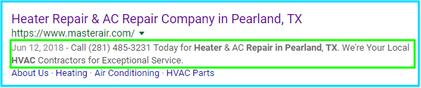 HVAC Meta Description