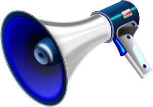 megaphone announcement
