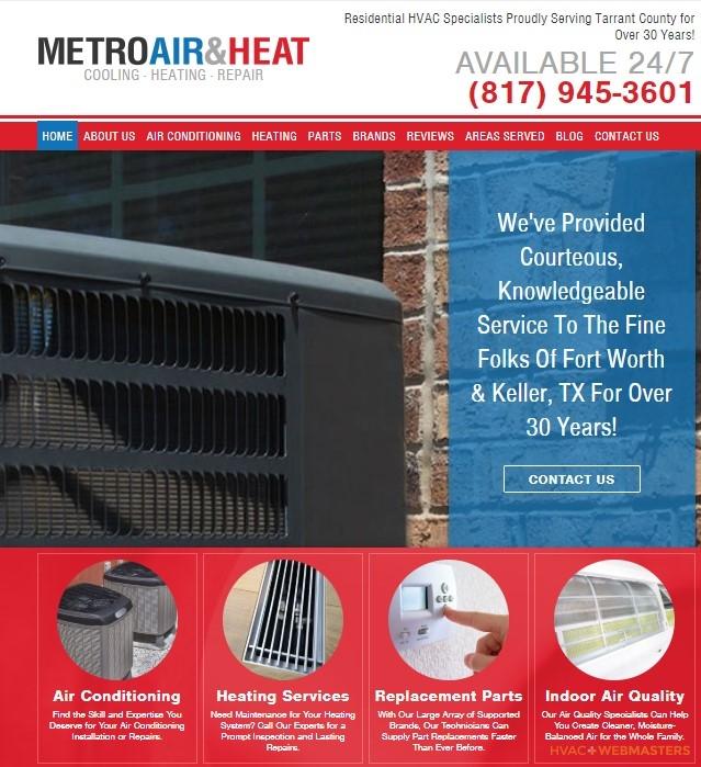 Metro Air and Heat Website