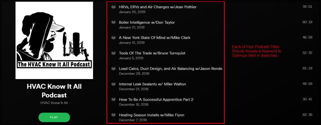 HVAC Podcast Title