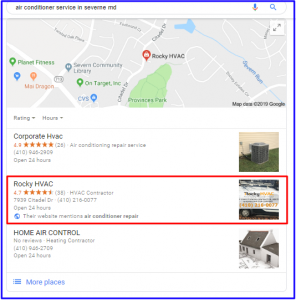 Map Search Results for Rocky HVAC