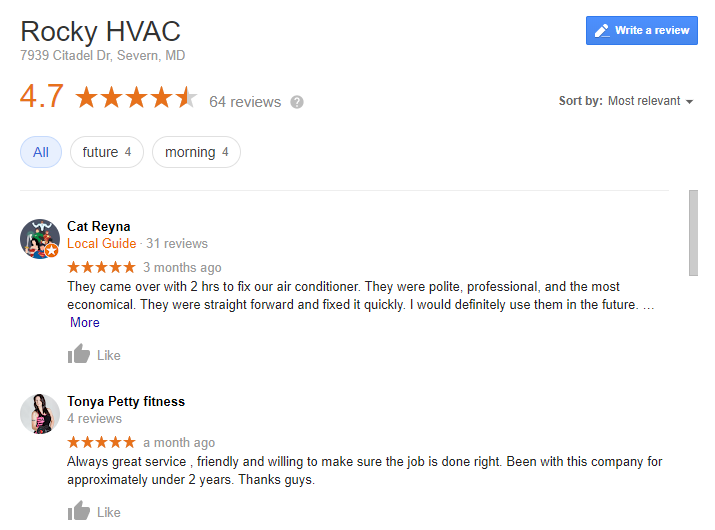 A Growing Count of Client Reviews
