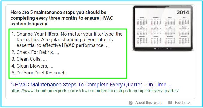 Schema for HVAC
