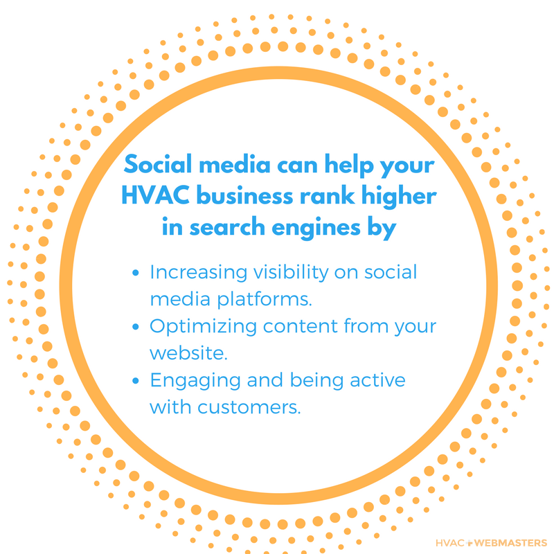 Social Media Can Help Your HVAC Business Rank Higher In Search Engines By Increasing Visibility On Social Media Platforms. Optimizing Content From Your Website. Engaging And Being Active With Customers.