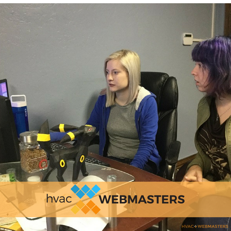 Webmasters Completing Social Media for Management HVAC Contractors