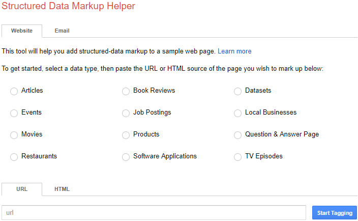 Structured Data Markups Not Usually Provided by Website Templates