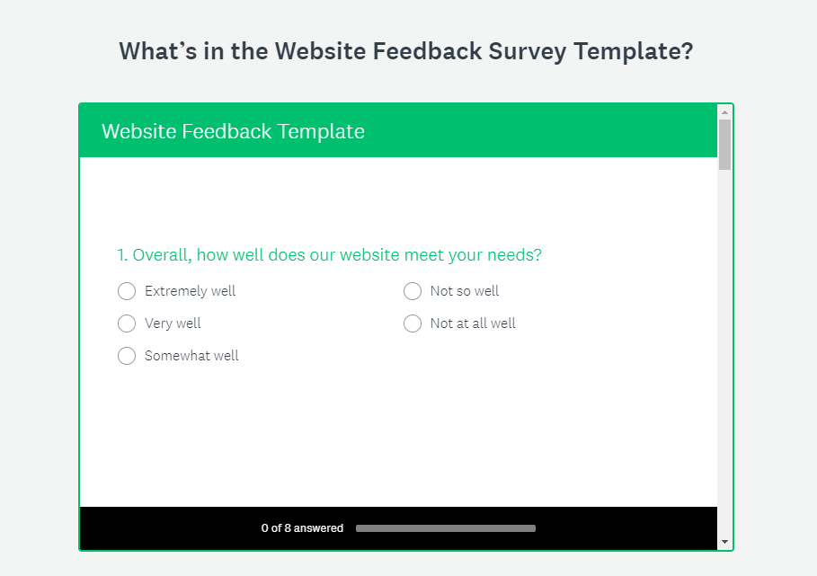 Survey Monkey Survey Example