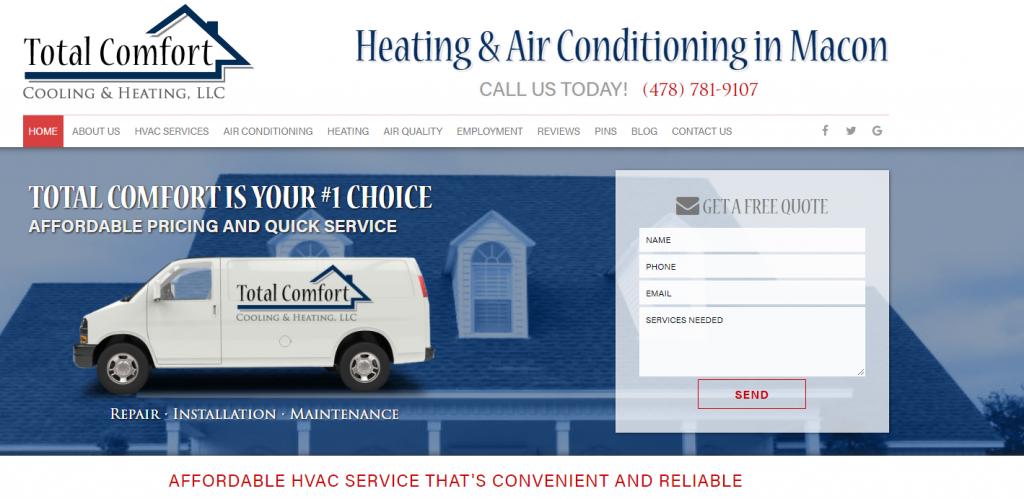 Total Comfort Cooling Website