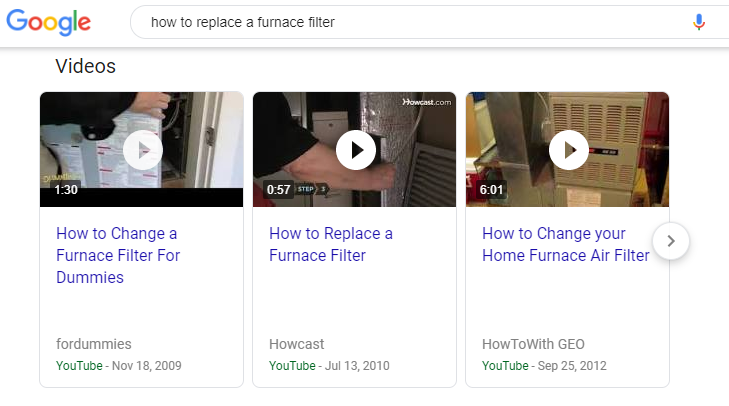 How-To Videos in SERP Feature