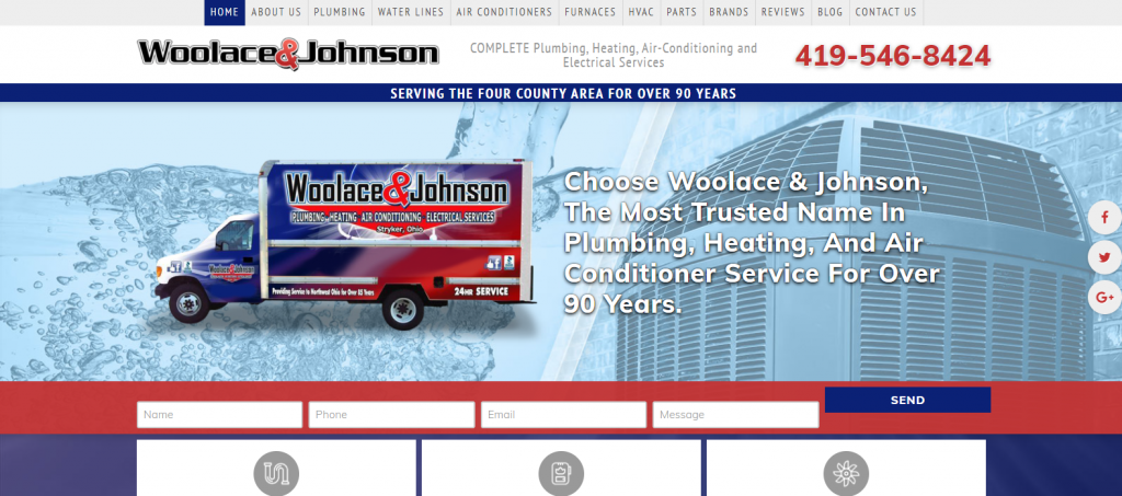 Woolace and Johnson Website